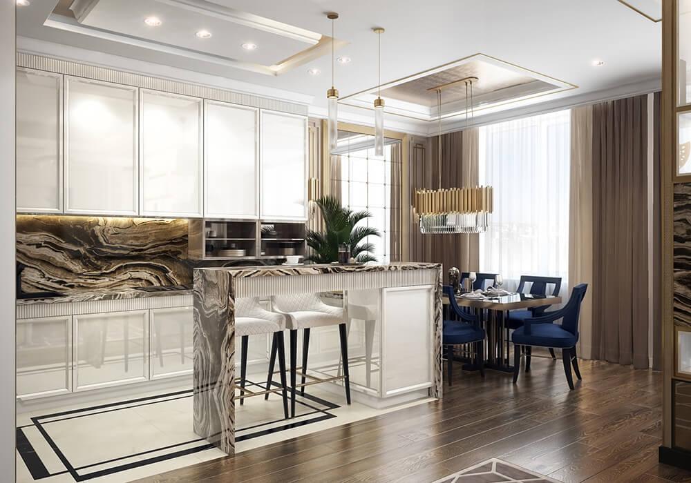 Дизайн проект квартиры 78м2 ЖК «Достояние» Арт